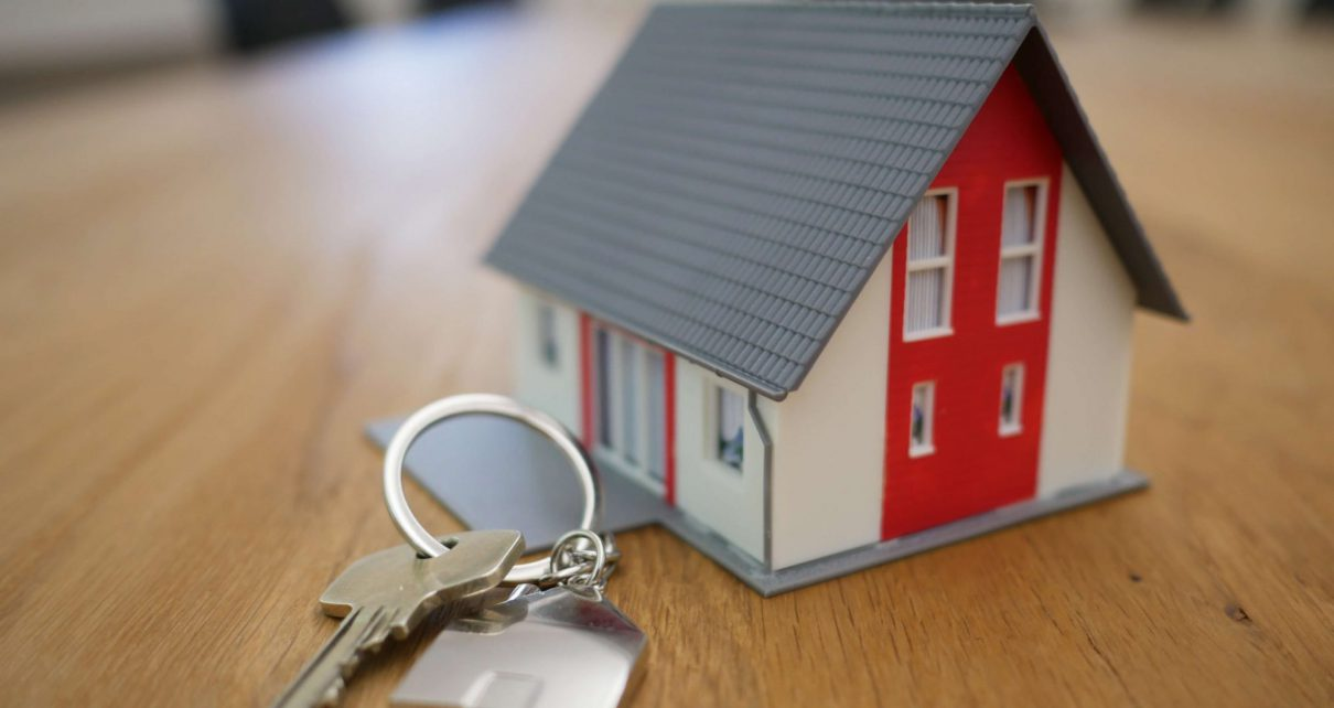 Miniature house and keys