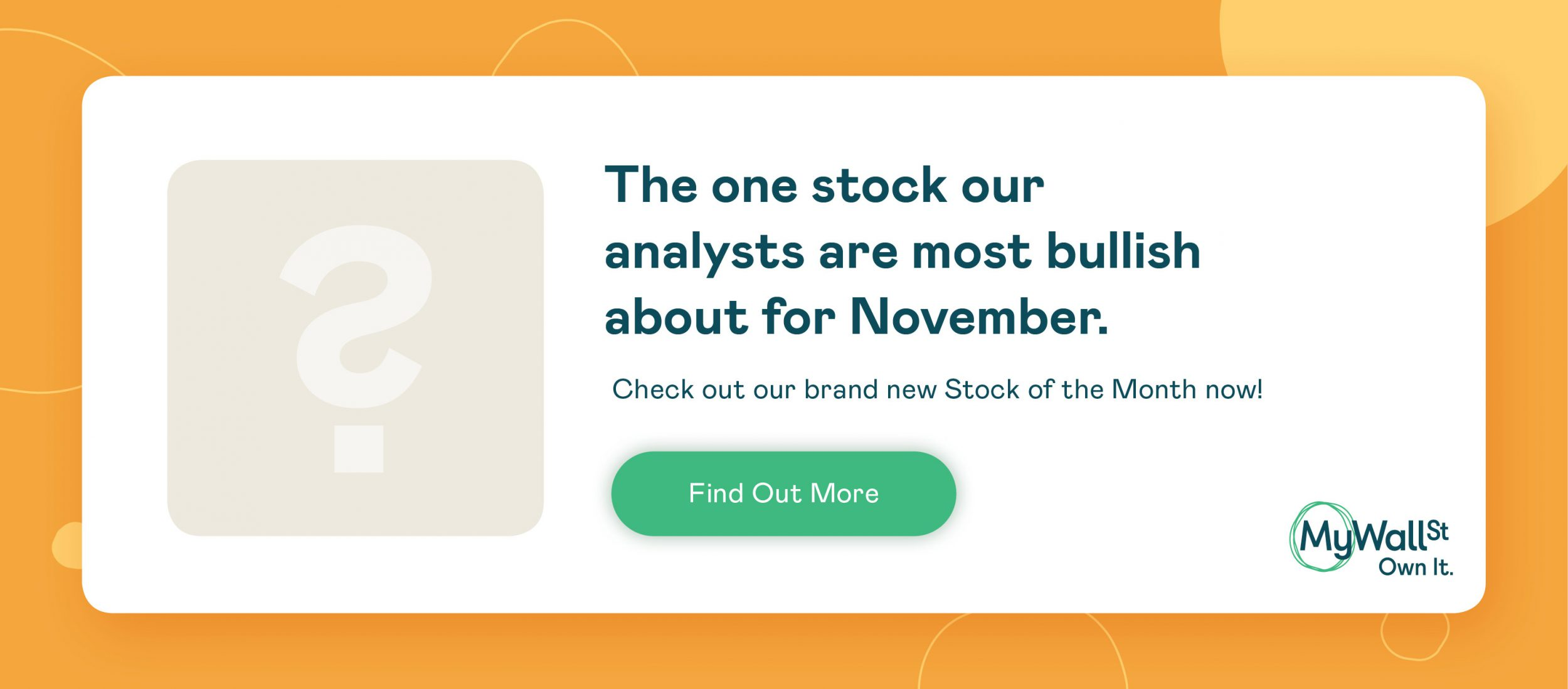 Stock pick of the month